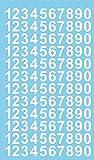 120 Klebezahlen je 12 mal 1 - 0 je ca. 2 cm hoch, in 7 verschiedenen Farben erhältlich. (2cm weiß)