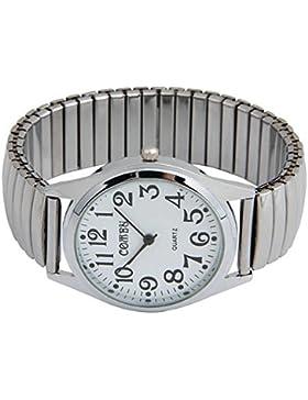 fitTek® Edelstahl Armbanduhr Herren Damen Uhr Flexband elastisch Sport Unisex [Schmuck]