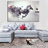 RTCKF Stampa HD Animale Moderno Astratto Creativo Creativo Cavallo Pittura a Olio Foto Decorazione della Parete Soggiorno (Senza Cornice) A2 30x40cm