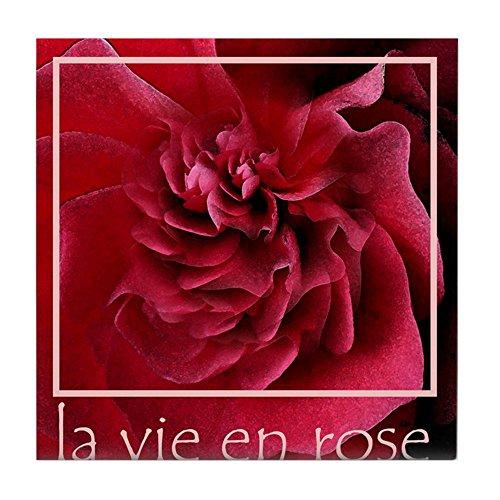 CafePress–La Vie en Rose _ pra029–Tile Untersetzer, Drink Untersetzer, Untersetzer, Klein -