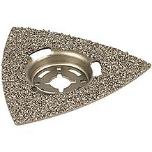 Wolfcraft 3994000 - Plato abrasivo, triangular, recubiertas de carburo de tungsteno, para sierras vibratorias