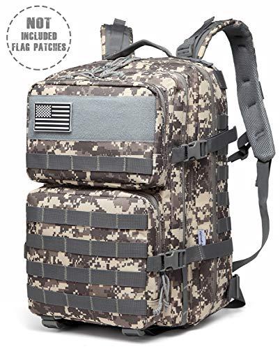 Songwin 43L Militärischer taktischer Rucksack,Kompakt & wasserdicht Barbarians Molle Tasche Armee Assault Rucksack für Outdoor Wandern Camping Reisen. (ACU) -