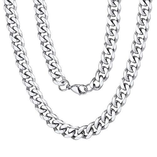 ChainsPro Halskette Silber 925 Ohne Anhänger Sterlingsilber Damen-Halskette - Weizenkette - Fuchsschwanz - 9mm Breite - Verschiedene Längen: 41-76 cm