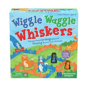 Learning Resources- Juego de Estrategia con Perros y Gatos Wiggle Waggle Whiskers, Color (EI-2886)