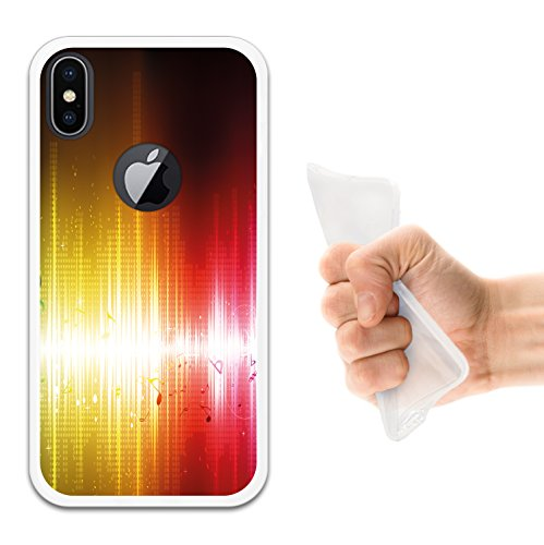 iPhone X Hülle, WoowCase Handyhülle Silikon für [ iPhone X ] Alien Warning Handytasche Handy Cover Case Schutzhülle Flexible TPU - Transparent Housse Gel iPhone X Transparent D0013