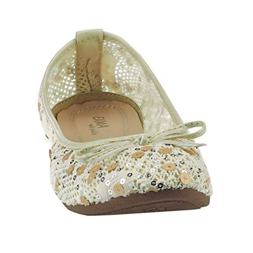 Beige Fashion4young 36 Donna Rosa Multicolore Ballerine wx0RtqO