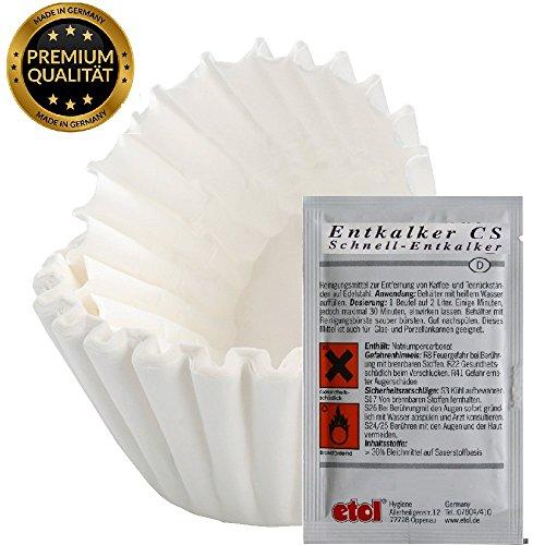 1200 Filter in 80x200 Kaffee korbfilter Filtertüten Qualitätsfilter für Beem, Gastroback,Grind &...