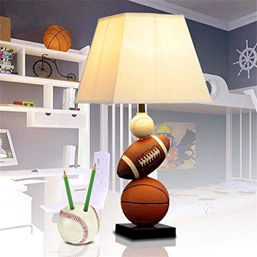 SED Luce di lettura ideale - americano pallacanestro personalità creativa ragazzo carino studio camera da letto letto bambini lampada da tavolo - lampada da tavolo e letto,Pulsante Interruttore