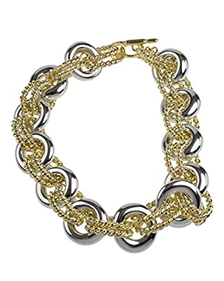 Kenneth Jay Lane Women's Gold Plated Silver Tone Links Necklace of Length 16.5cm