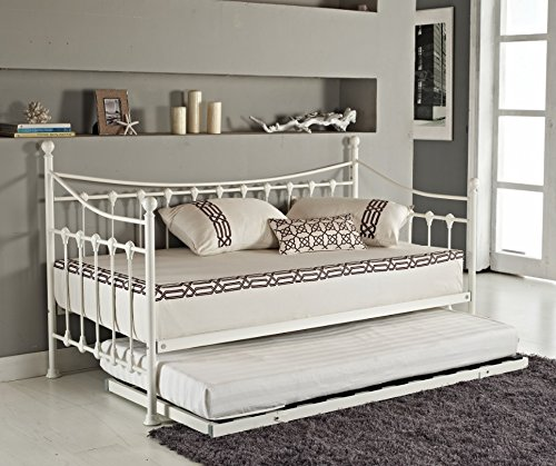 elegant-french-metal-versailles-single-day-bed-with-pull-out-guest-trundle-bed-black-or-white-white