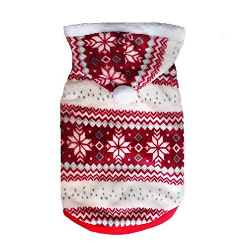 Puppy Kleinkind Für Kostüm - AMURAO Winter Haustier Hund Kleidung, Weihnachten Kleidung Hoodie für Chihuahua Warm Dog Coat Puppy Kostüm