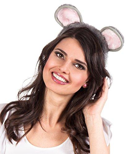 Boland 52280 - Haarreif Maus (Halloween-maus-ohren)