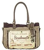 Sunsa Handtasche Damen Tasche Shopper Schultertasche Tote große Handgelenktasche Henkeltasche Damentasche Canvastasche Weekender Retro Vintage mit Canvas Leder Umhängetasche Tragetasche