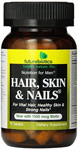 Futurebiotics Hair Skin Nails For Men Tablets, 75-Count