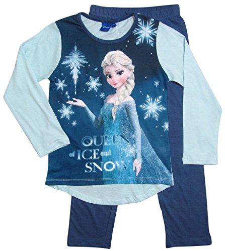 Frozen Pyjama Kollektion 2016 Die Eiskönigin 98 104 110 116 122 128 Schlafanzug Völlig Unverfroren Mädchen Lang Elsa Neu Blau (122 - 128, Blau)
