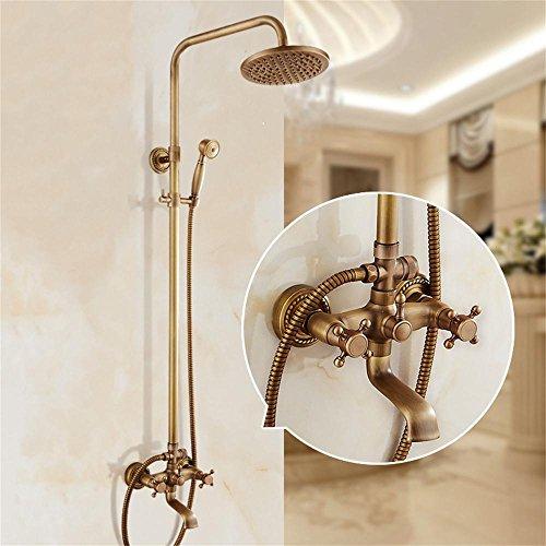 PIGE Europäische Antike Retro Aufzug Alle Copper Dusche-Suite Dusche-Kopf Dusche Mit Druck Dusche (Ultra-hochdruck-dusche-kopf)