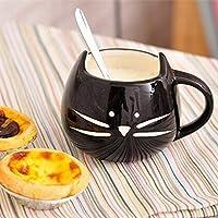 Bluelover Gatto di Ceramica Creativa Animale Tazza di Caffè Tazza Acqua Latte Coppie Amanti Della Tazza - Nero