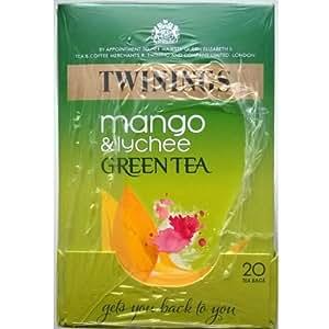 Twinings Mango & Litchi verde Bustine di tè - 4 x 20 di