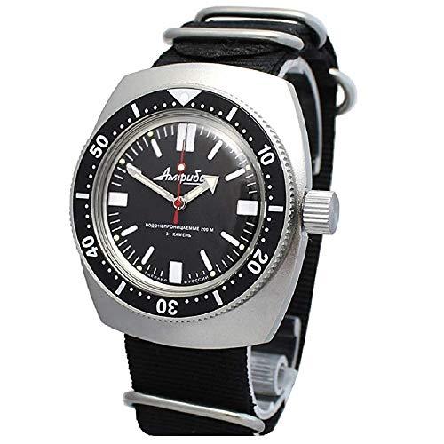 Vostok Amphibian Scuba Dude, orologio da polso automatico militare subacqueo #090916 NATO