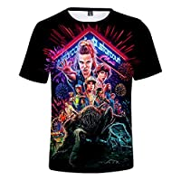 Hot sale Stranger Things 3 3D Printing T shirt short sleeve shirt Customized t shirt (7,XL)