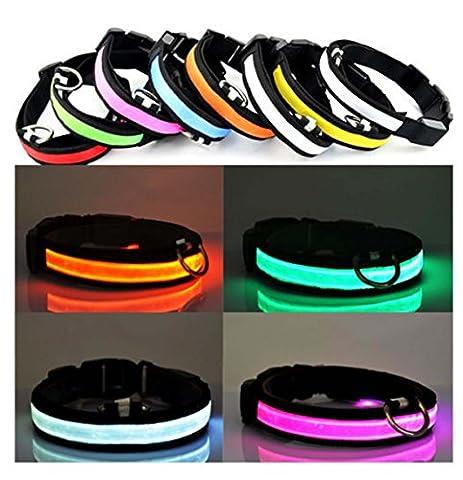 Ultra ® Orange Large 45-52cm LED Dog Collar Flashing Bright