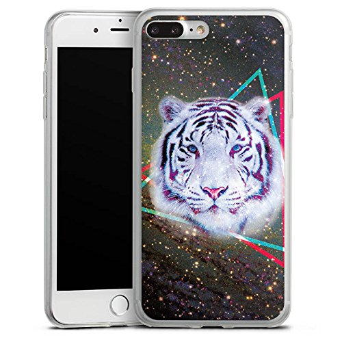 Apple iPhone 8 Plus Slim Case Silikon Hülle Schutzhülle Galaxy Tiger Dreieck Stern Silikon Slim Case transparent