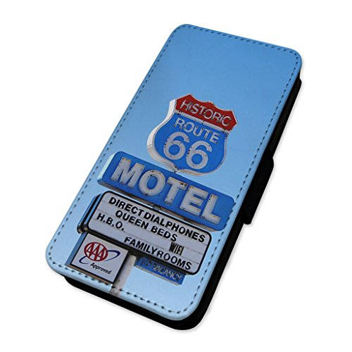 Route 66Motel Schild–USA Reise Road–Flip Case Wallet Cover Samsung Galaxy S3 Mini (S3 Mini-usa)