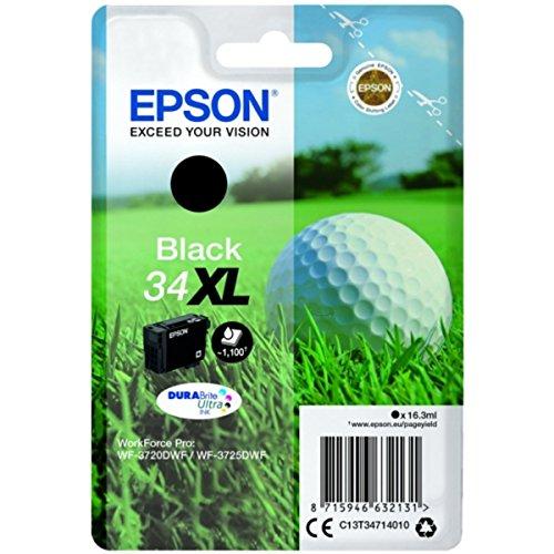 Preisvergleich Produktbild Epson original - Epson WorkForce Pro WF-3720 DW (34XL / C13T34714020) - Tintenpatrone schwarz - 1.100 Seiten - 16,3ml