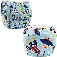 JT-Amigo Pañal Bañador Reutilizable Para Bebé (Pack de 2)