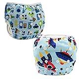 JT-Amigo 2er Pack Baby Badewindelhose Schwimmwindel, Set 3