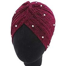Pluto /& Fox Damen Muslim Stretch Turban Hut Chemo Cap Haarausfall Kopftuch Wrap Hijab Cap