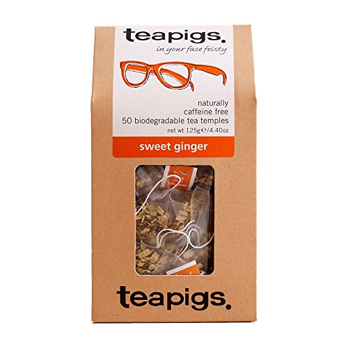 teapigs Sweet Ginger Tea Temples, 50-Count