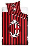 AC Milan Einzelbett Bettwäscheset, Bettbezug Bettwäsche Set Größe 160 x 200 cm 100% Baumwolle