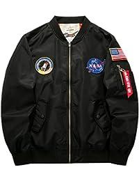 YYZYY Homme Classique Blousons Manteaux vol Air Force Aviateur Bomber MA1 Veste Pilot Flight Jacket Coat 16 couleur XS-4XL
