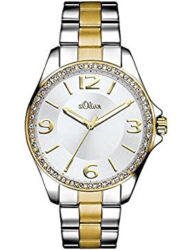 s.Oliver Damen-Armbanduhr Analog Quarz Edelstahl SO-3058-MQ