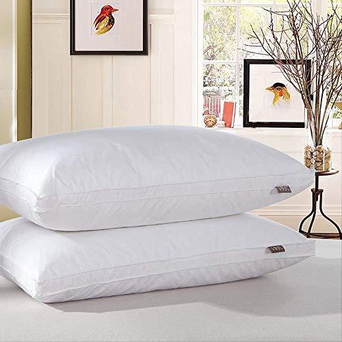Almohada HAOAYOU 48x74cmbed Pillows 2 Pack Standard Size100% Algodón Cubierta Y Super Soft Plush Fiber...