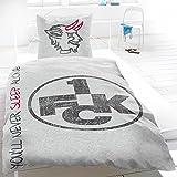 1. FC Kaiserslautern Bettwäsche Never Sleep Alone mit Knöpfen 2-tlg. 135x200