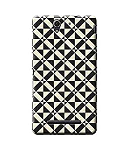 Be Awara Black & White Abstract Designer Mobile Phone Case Back Cover For Sony C3