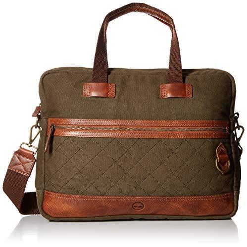ntasket Briefcase Messenger Crossbody Bag Aktentasche, olive night, Einheitsgröße ()
