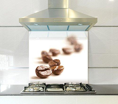 Kaffee Bohnen bedruckter Splashback aus Glas, 900mm width x 750mm height