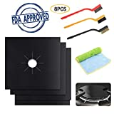 Aolvo Gas Range Protectors Reusable Non-stick Gas Stove Burner Covers for Kitchen/Cooking-Size 10.6