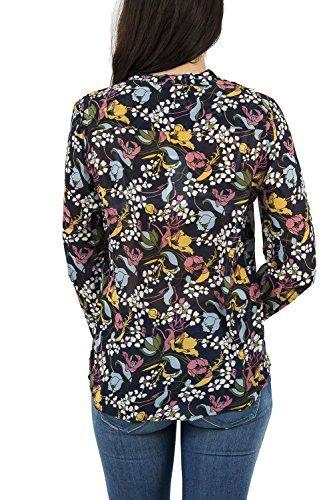 Molly Bracken Blouse Fleurs de Printemps, T-Shirt Manches Longues Femme Bleu