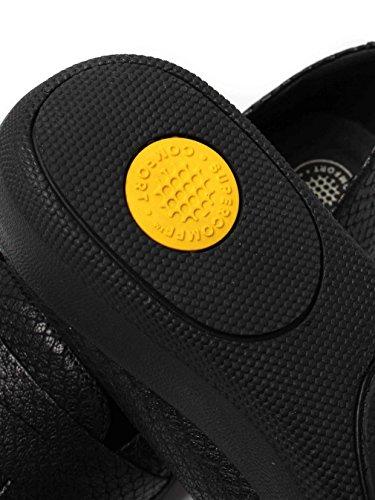 Serpente Di FitFlop™ Fringey Sneakerloafer Scarpe Nere Nero