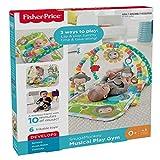 Fisher-Price CLJ42Musik-Äffchen Spielcenter, Krabbeldecke mit zweiSpielbögen, inkl. 6 Spielzeugen, Babyerstausstattung, ab 0 Monaten