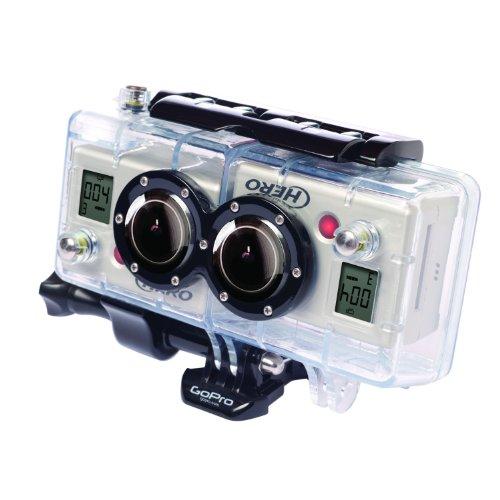 GoPro 3D HERO System - Accesorio para cámaras GoPro HERO2 (carcasa 3D, resistente al agua, permite grabar vídeo y foto en 3D y 2D simultáneamente) color transparente