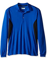 PGA TOUR Men's Golf Performance Long Sleeve Color Blocked Polo Shirt