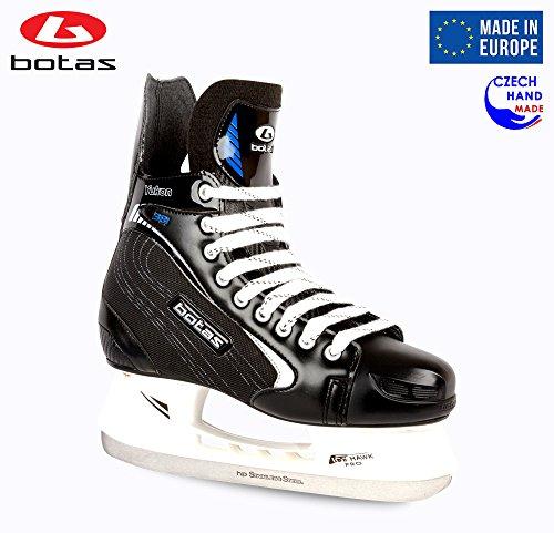 Botas Herren Eishockeyschlittschuhe Yukon 381, (Tschechische Republik), Farbe: Schwarz mit Silber, Schwarz mit Silber, Adult 10 (Botas Skate)