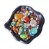 YIKUI Kieselsteine, Verschiedene Formen, Natürliche Farbe, Stein, Unregelmäßig, Geeignet Für Fisch Tanks, Blumentöpfe, Landschafts Tische, Pflaster, 500G