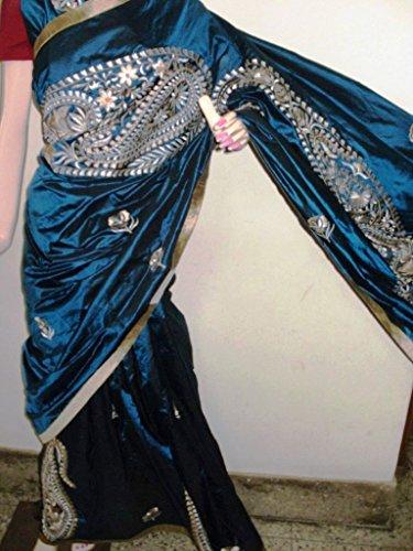 Madhumita's Boutique Parsi Stitch Saree on Bangalore Silk