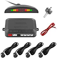 Sensore di Parcheggio, Yokkao® Car Parking Sensor 4 Kit con Buzzer Allarme e Display Led (Nero)